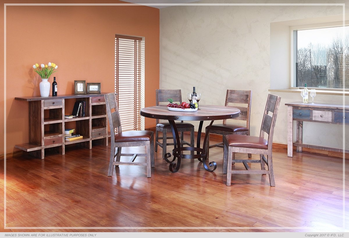 Ifd Dining Antique Multicolor All Wood Furniture