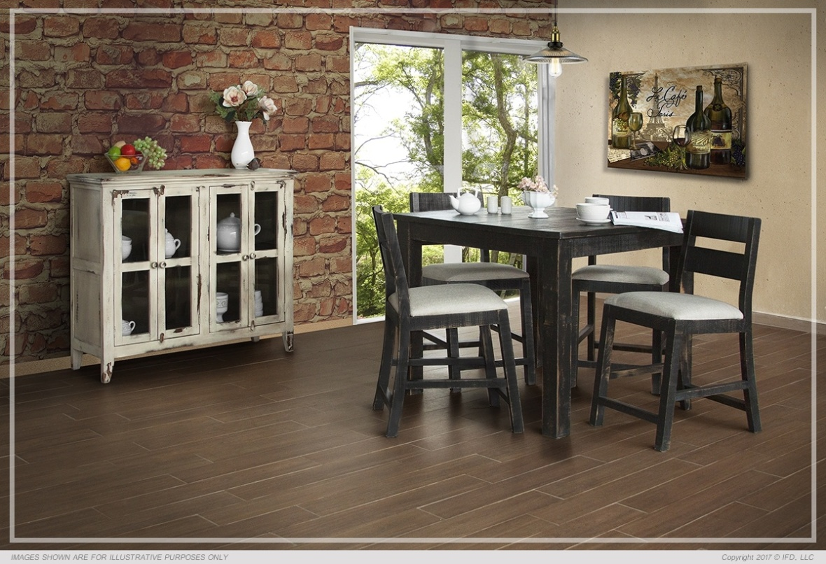 Ifd Dining Pueblo Black Counter All Wood Furniture