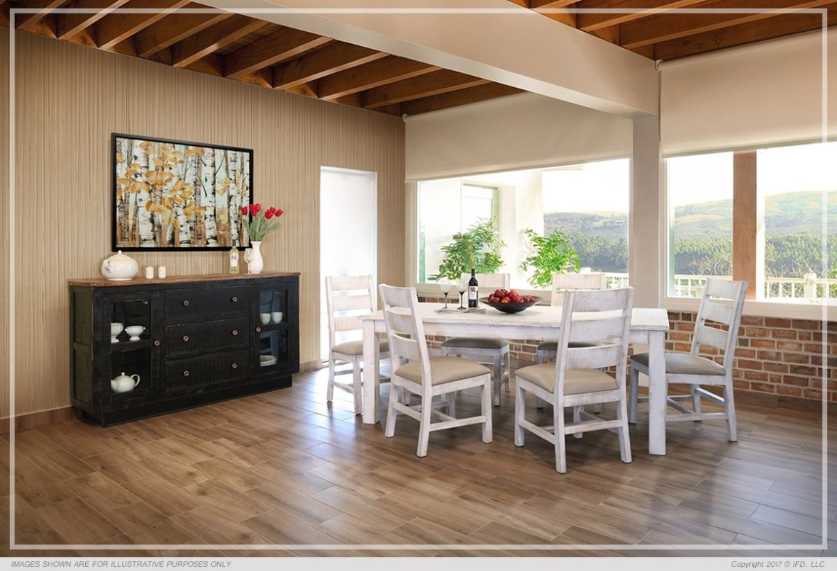 Ifd Dining Pueblo White All Wood Furniture