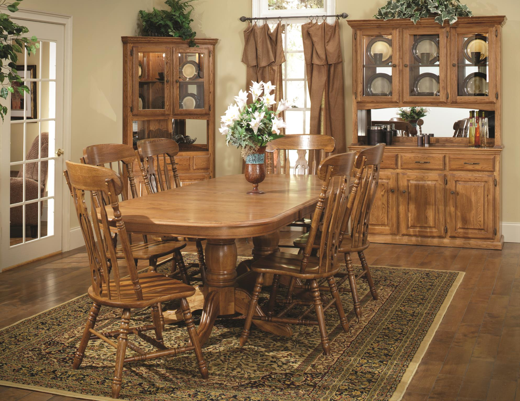 Tei Dining Oak 4260 Ped All Wood Furniture