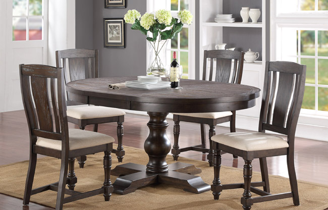 Wo Dining Xcalibur 48 E All Wood Furniture